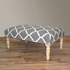 @Overstock - This beautiful handmade bench adds elegant style to your home. Upholstered with a finely woven Kilim rug, this bench gives off an antique feel that is appropriate for any decor.http://www.overstock.com/Home-Garden/Hand-Upholstered-Moroccan-Trellis-Grey-Wood-Bench/6836190/product.html?CID=214117 $339.99