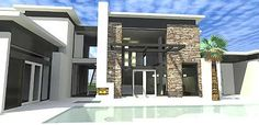 Contemporary Home With Jaw-Dropping Living Room - 44115TD | Beach, Modern, Vacation, Luxury, Metric, Premium Collection, 1st Floor Master Suite, Butler Walk-in Pantry, CAD Available, Loft, PDF, Corner Lot | Architectural Designs