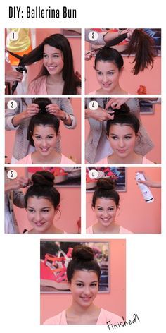The ballerina bun is so cute!
