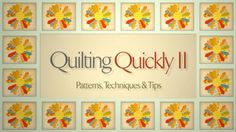 Quilting Quickly II: Patterns & Techniques