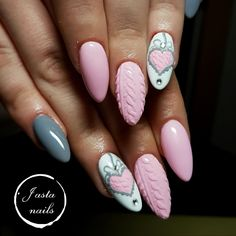 With winter quickly approaching, we can already imagine sitting by the fireplace and sipping hot apple cider—while holding the cup with our beautiful cable knit nails, of course.Check out some of the coziest cable knit nail photos below。 Valentine's Day Nail Designs, Best Nail Art Designs, Acrylic Nail Designs, Pink Nail Art, Pink Nails, Holiday Nails, Christmas Nails, Wow Nails, Nail Photos