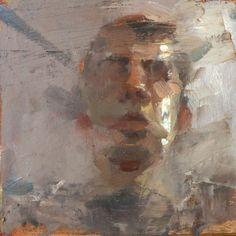 "Saatchi Online Artist Tyler D Graffam; Painting, ""study for a self portrait"" #art"
