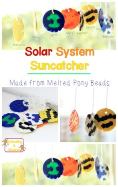 Love planet crafts? This solar system mobile transforms melted pony beads into the solar system. This will be a favorite solar system projects for kids!