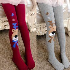 Striped Love Baby Toddler Tight Long Pants Leggings Christmas Kids Heart Cotton