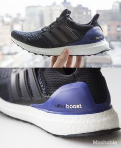 "The Addidas ""Ultra Boost"" has ""energy boosters"" — basically bits of bouncy styrofoam — in the sole of the shoe to help runners."