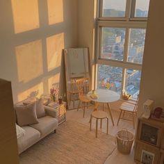 Interior Design Minimalist, Minimalist Room, Minimalist Studio Apartment, Dream Apartment, Apartment Interior, Seoul Apartment, Apartment Design, Room Ideas Bedroom, Bedroom Decor