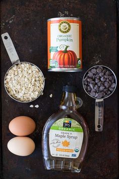 Flourless Pumpkin Muffins They're gluten-free, oil-free, dairy-free, and refined sugar-free Healthy Sweets, Healthy Baking, Healthy Snacks, Healthy Oils, Baby Food Recipes, Dessert Recipes, Cooking Recipes, Cooking Games, Potato Recipes
