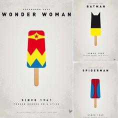L.O.V.E! | Superheroes on a Stick: Comic-Inspired Popsicle Prints