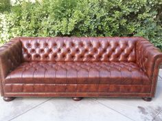 Tufted Leather Chesterfield Sofa Caramel Brown 88 1500 Dublin Pleasanton Livermore