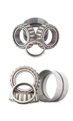 Double row tapered roller bearings can support the combined load which is mainly consisted of radial load. It can restrict the axial displacement of the shaft or housing in the two directions and thus can be used as a bidirectional locating bearing. Double row tapered roller bearings can carry heavy radial and axial loads and are stiff, the axial load carrying capacity of tapered roller bearings increases with increasing contact angle, and are easy to be mounted and dismounted. Contact Angle, The Row, Two By Two, Bear, Bears
