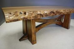 Alsace Dining Table with Waney Edge Top