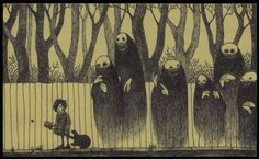 John Kenn was born in Denmark. He writes and directs TV shows for kids, but in his sparetime he makes this amazing, creepy illustrations on Post-it notes.