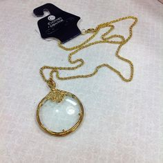 Magnifying necklace: $8.00 #cm #cmstyle #style #clothes #mentor #clothesmentor #clothesmentorsarasotasouth