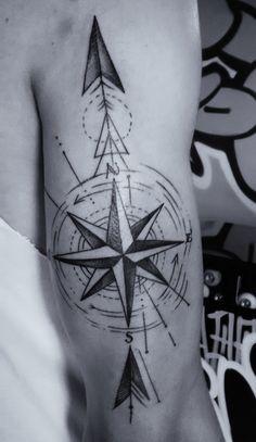 Primeira tatuagem. #tattoo #wind #rose #arrow #tatuagem #rosa #dos #ventos #flecha