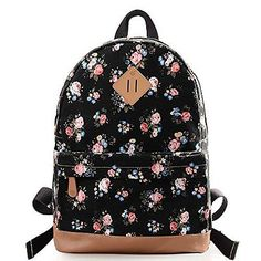 6f534aa07611 DGY Women s Canvas Backpack School Bag Fashion Book Bags Backpacks for Girls  G00