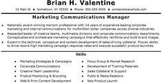 Marketing and Communications Resume Template Check out this brand new service!