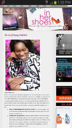 I am featured on @inhershoesblog discussing the art of publishing.  Visit www.inhershoesblog.com to get the details #CEOChair