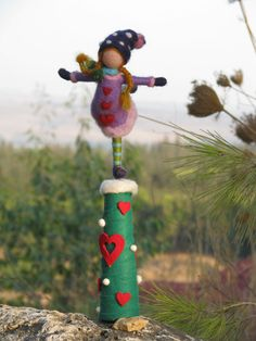 Christmas tree top needle felted little ice von Made4uByMagic