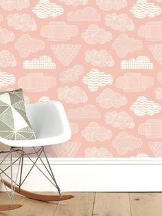 Clouds Wallpaper – Blush - Blush