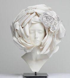 White - head - paper -Katsuya Kamo - Chanel Couture Spring 2009