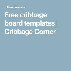 Free cribbage board templates | Cribbage Corner