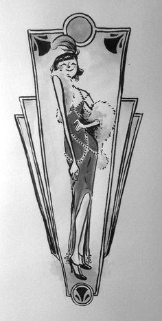 Vintage Vibes, Vintage Love, Pretty Drawings, Simple Doodles, Murder Mysteries, Art Deco Design, Film, Art Pictures, Art History