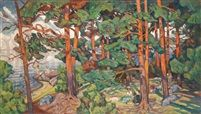 Paysage fauve by Karl Edvard Diriks
