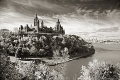 Gatineau view of Parliament Hill Largest Countries, Countries Of The World, Going On A Trip, Ottawa, Beautiful World, Ontario, Monument Valley, Places Ive Been, Monochrome