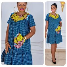 African Attire, African Wear, African Women, African Dress, African Fashion Ankara, African Print Fashion, Nigerian Dress Styles, Simple Gowns, Casual Dresses