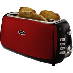 Oster 4-Slice Toaster, Red