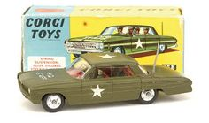 "Mettoy Corgi diecast No.358 Oldsmobile Super 88 ""HQ Staff"" Car"