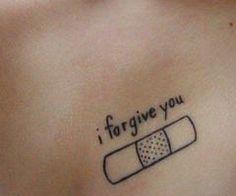 bandage over the heart tattoo. Too cute.