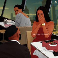 Black Couple Art, Black Love Art, Black Girl Art, Art Girl, Black Art Painting, Black Artwork, Black Couples Goals, Cute Couples, Couple Goals