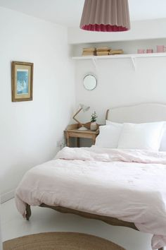 Adding touches of pink to a bedroom | Apartment Apothecary