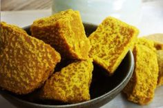 Golden nuggets of goodness! What's not to LOVE about Golden Turmeric Bites! The perfect gluten free, dairy free, anti-inflammatory, paleo and keto snack!