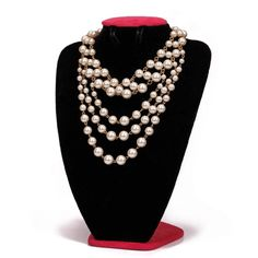 multi layer pearl short bib necklace , shop cheap fashion jewelry at www.favorwe.com