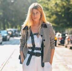Always one step ahead, fashion consultant and stylist Ada Kokosar ticks off not one, but two of fall's biggest trends with this amazing look - the belt and checks - and she looks unreal. Check out our Instagram Stories for exclusives straight from Milan fashion week courtesy of Tommy Ton #styledotTon