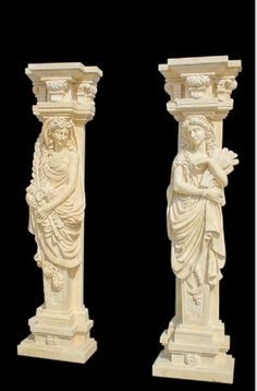 Marble columns your home decor in natural color with ladies.