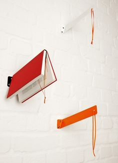 Love this idea-hanging book mark - would be GREAT above the bed !!!