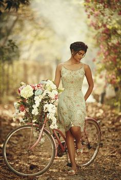 Celebrating the philosophy of the Bohemian Odyssey Spring summer by DIVA'NI Indian Wedding Planning, Bicycle Girl, Fashion Poses, Vintage Inspired, Diva, Bollywood, Wedding Photography, Art Photography, Spring Summer