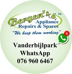 We are on WhatsApp and will respond to your enquiry. Forward your appliance make, model and description of the problem and we'll get back to you. #repair #appliancerepair #bergensapplinacerepairs #vanderbijlpark  Bergens Appliance Repairs & Spares  Vanderbijlpark Branch WhatsApp:   076 960 6467 Email:   vanderbijlpark@bergens.co.za