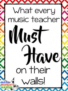 Music Teacher MUST Have on their Walls What Every Music Teacher MUST Have on their Walls! - Make Moments MatterWhat Every Music Teacher MUST Have on their Walls! - Make Moments Matter Music Bulletin Boards, Teacher Must Haves, Middle School Music, Music Lesson Plans, Music Activities, Music Games, Piano Teaching, Teaching Tips, Classroom Walls