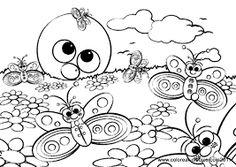Resultado de imagen para dibujos de paisajes para colorear infantiles