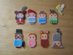 and more: Nana beads disney Hama Disney, Hama Beads Disney, Melty Bead Patterns, Perler Patterns, Beading Patterns, Perler Beads, Fuse Beads, Peter Pan, Seed Bead Crafts
