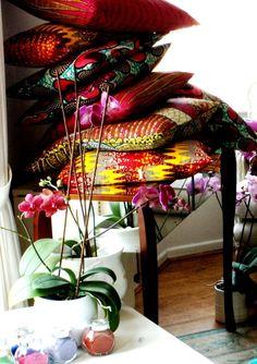 batik decorative pillows
