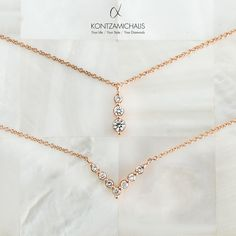 There is only one thing better than a diamond… More diamonds! Timeless Design, Bridal Collection, How To Memorize Things, Diamonds, Gold Necklace, Necklaces, Elegant, Jewelry, Fashion