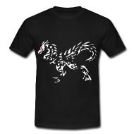 T-Shirts ~ Männer T-Shirt klassisch ~ Drachenmotiv