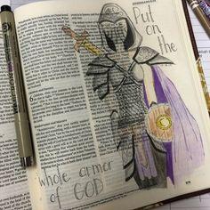 Journaling Bible Illustrated faith Ephesians 6:11  Put on the whole armor of God