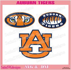 Auburn Tigers Design Set Files Use Your Silhouette Studio Software SVG Files DXF Font EPS Files Svg Fonts Silhouette Cricut by SatinSVGdesigns