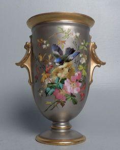 Fine Antique Porcelain Urn Or Vase W Platinum Gold & Enamel Decoration - PC
